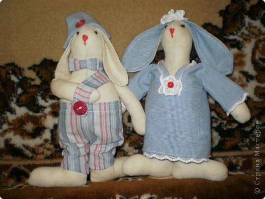 Коллективная работа, Мастер-класс Шитьё: Шьём вместе  Тильдо-зайца! Ткань. Фото 18