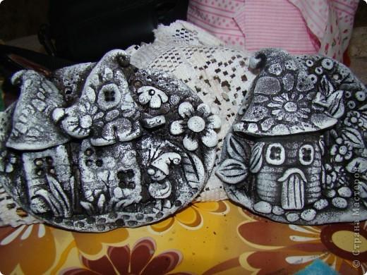 Картина, панно, Мастер-класс,  Лепка, : Домики для гномиков из теста  Гуашь, Тесто соленое Отдых, . Фото 13