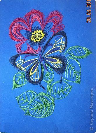 Картина, панно Изонить: Цветок