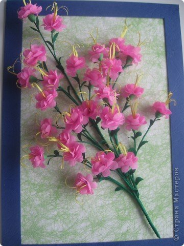 Картина, панно, Мастер-класс Бумагопластика, Квиллинг, Моделирование: Розовый сон Бумага. Фото 1