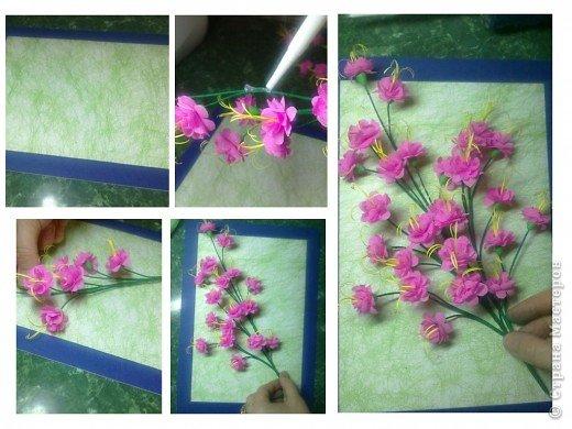 Картина, панно, Мастер-класс,  Бумагопластика, Квиллинг, Моделирование, : Розовый сон Бумага . Фото 9