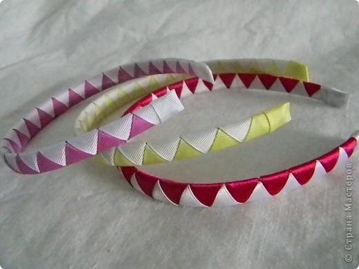 Ободок из атласной ленты своими руками пошаговое фото