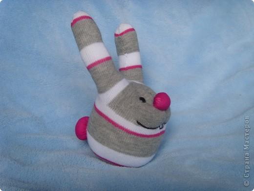Игрушка Шитьё: Заяц из носка Носки.  Фото 3.