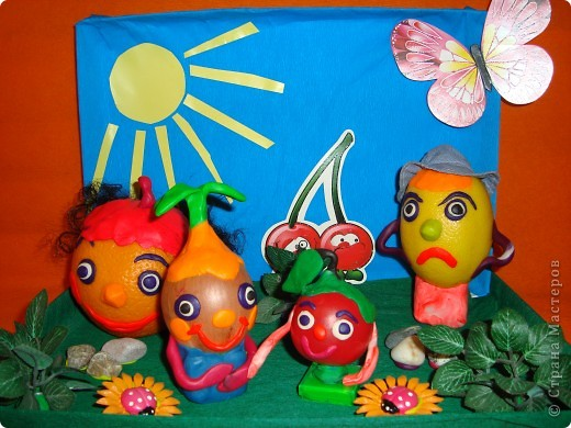 Поделки своими руками фруктов и овощей из бросового материала 17