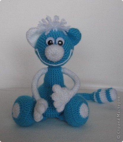 Игрушка, Вязание крючком, : Котик для малыша Пряжа . Фото 1
