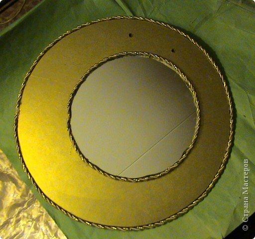 Захотелось сделать вещь не только красивую, но и функциональную. Диаметр круга 30 см, а диаметр самого зеркала 18 см.. Фото 9