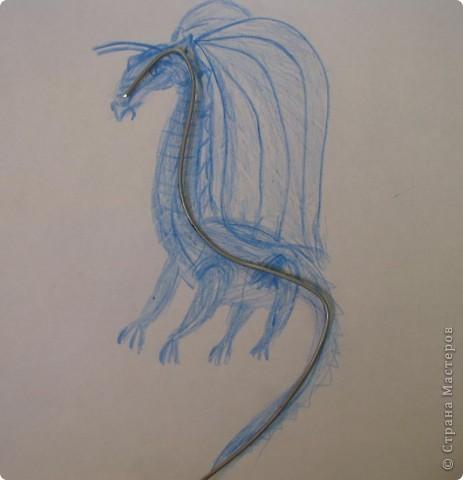Как обещала, показываю этапы создания дракона. Маленький Элиот-хранитель. . Фото 2