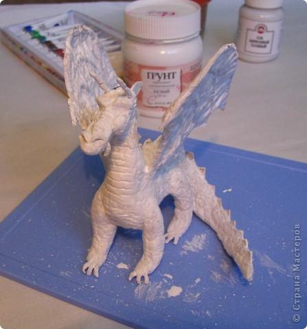 Как обещала, показываю этапы создания дракона. Маленький Элиот-хранитель. . Фото 19
