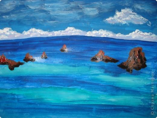 Морская зарисовка с пальмой.Специально для Натальи и её сынули.. Фото 11