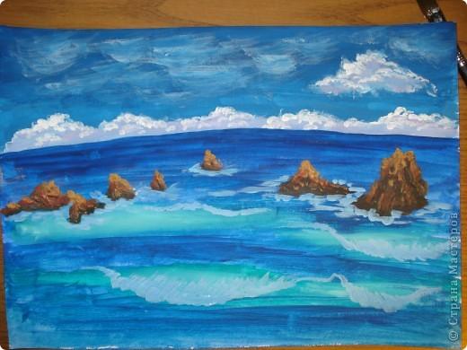 Морская зарисовка с пальмой.Специально для Натальи и её сынули.. Фото 14