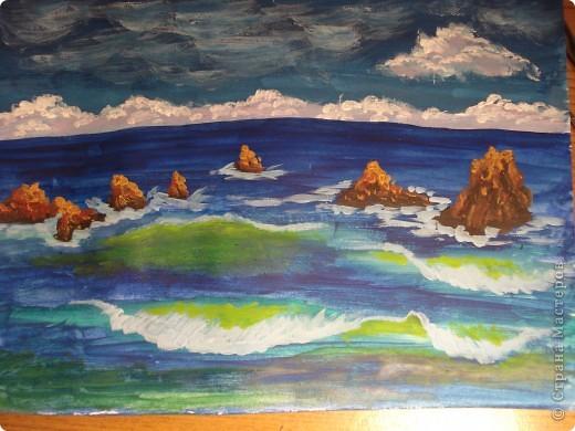 Морская зарисовка с пальмой.Специально для Натальи и её сынули.. Фото 15