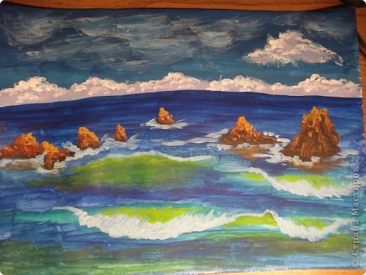 Морская зарисовка с пальмой.Специально для Натальи и её сынули.. Фото 16
