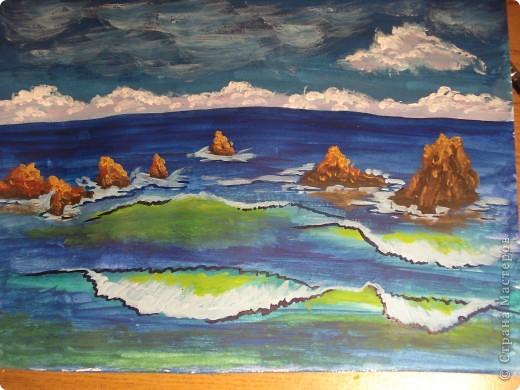 Морская зарисовка с пальмой.Специально для Натальи и её сынули.. Фото 17