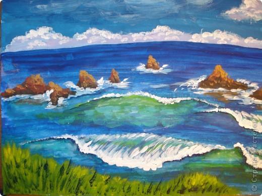 Морская зарисовка с пальмой.Специально для Натальи и её сынули.. Фото 21