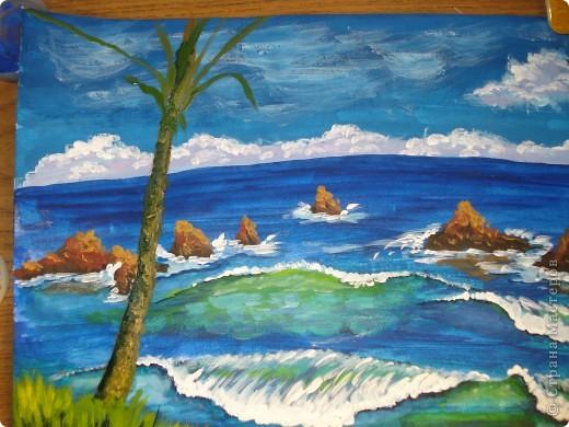 Морская зарисовка с пальмой.Специально для Натальи и её сынули.. Фото 24