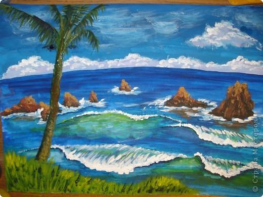 Морская зарисовка с пальмой.Специально для Натальи и её сынули.. Фото 25