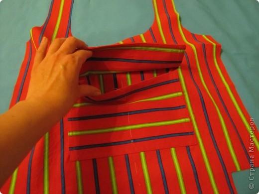 Гардероб, Мастер-класс Шитьё: Летняя сумка. Мини МК. Ткань День рождения. Фото 9