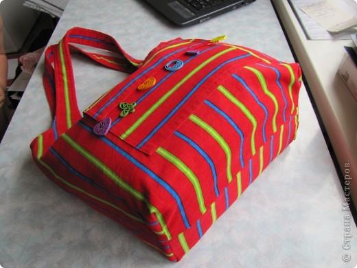 Гардероб, Мастер-класс Шитьё: Летняя сумка. Мини МК. Ткань День рождения. Фото 17