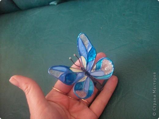 Бабочка из проволоки и лака для ногтей мастер класс