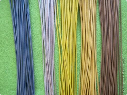 Мастер-класс, Поделка, изделие Плетение: Плошка-лукошко (крашеные трубочки) Бумага газетная. Фото 12