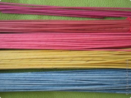 Мастер-класс, Поделка, изделие Плетение: Плошка-лукошко (крашеные трубочки) Бумага газетная. Фото 11