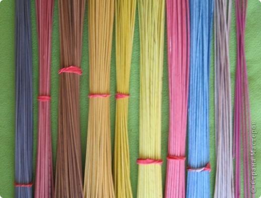 Мастер-класс, Поделка, изделие Плетение: Плошка-лукошко (крашеные трубочки) Бумага газетная. Фото 10