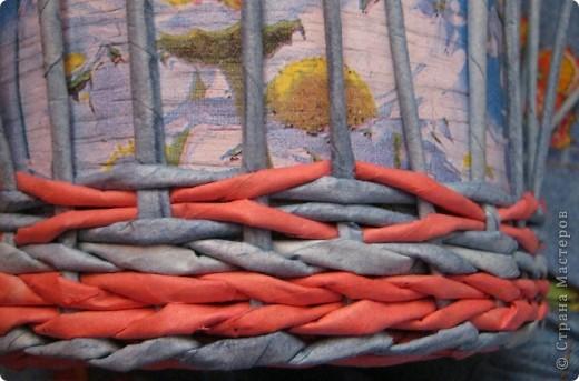 Мастер-класс, Поделка, изделие Плетение: Плошка-лукошко (крашеные трубочки) Бумага газетная. Фото 9