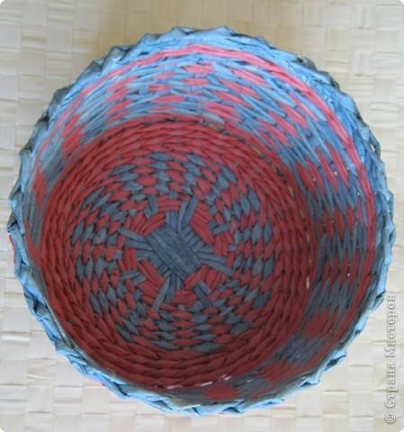 Мастер-класс, Поделка, изделие Плетение: Плошка-лукошко (крашеные трубочки) Бумага газетная. Фото 3