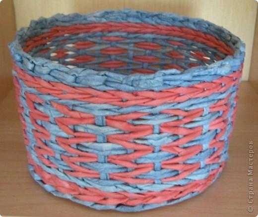 Мастер-класс, Поделка, изделие Плетение: Плошка-лукошко (крашеные трубочки) Бумага газетная. Фото 2