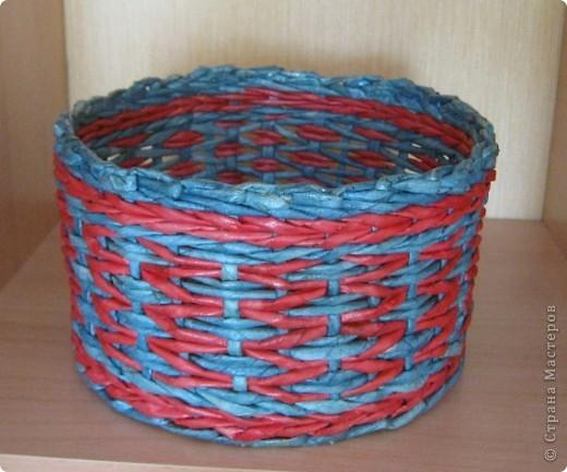 Мастер-класс, Поделка, изделие Плетение: Плошка-лукошко (крашеные трубочки) Бумага газетная. Фото 1