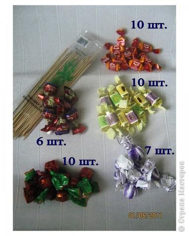 Мастер-класс, Свит-дизайн: Мой первый МК по букету из конфет Бумага гофрированная. Фото 2