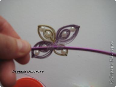 Мастер-класс Ганутель: МК цветы и ободки. Проволока. Фото 29