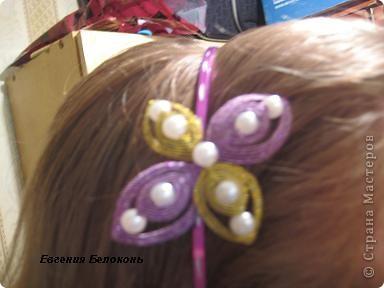 Мастер-класс Ганутель: МК цветы и ободки. Проволока. Фото 31