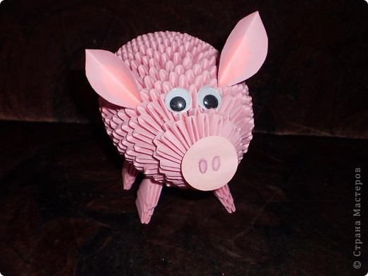 Оригами свинка оригами модульное