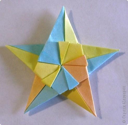 Мастер-класс, Поделка, изделие Оригами, Оригами модульное: Звезда пятиконечная Бумага. Фото 1