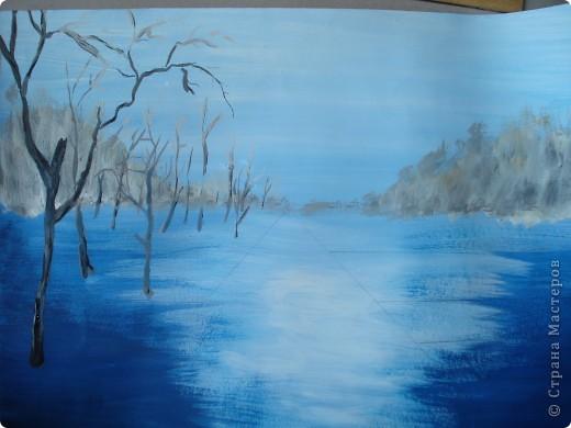 Мастер-класс, Урок рисования Рисование и живопись: Осенний парк. Гуашь Праздник осени. Фото 7