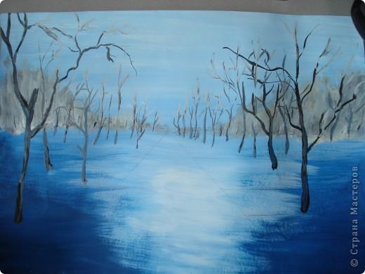 Мастер-класс, Урок рисования Рисование и живопись: Осенний парк. Гуашь Праздник осени. Фото 11