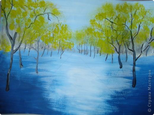 Мастер-класс, Урок рисования Рисование и живопись: Осенний парк. Гуашь Праздник осени. Фото 12