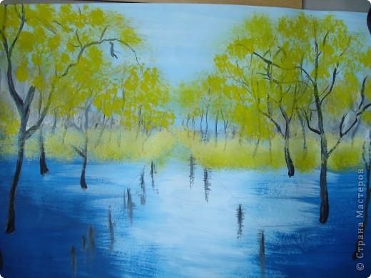 Мастер-класс, Урок рисования Рисование и живопись: Осенний парк. Гуашь Праздник осени. Фото 14