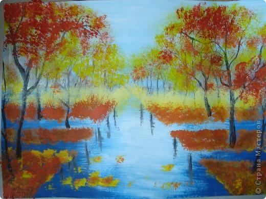 Мастер-класс, Урок рисования Рисование и живопись: Осенний парк. Гуашь Праздник осени. Фото 16