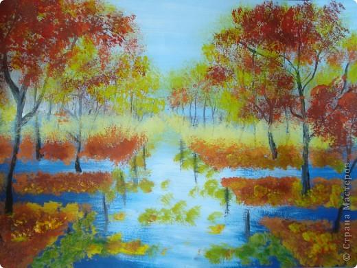 Мастер-класс, Урок рисования Рисование и живопись: Осенний парк. Гуашь Праздник осени. Фото 17
