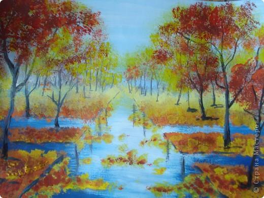 Мастер-класс, Урок рисования Рисование и живопись: Осенний парк. Гуашь Праздник осени. Фото 18