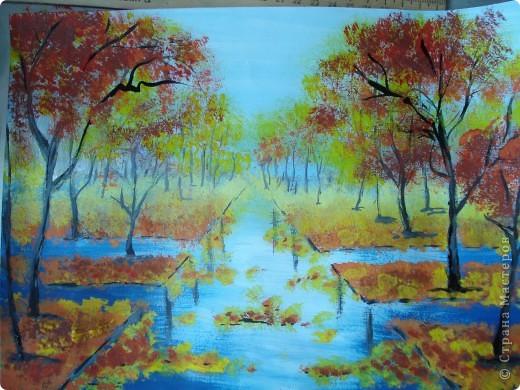 Мастер-класс, Урок рисования Рисование и живопись: Осенний парк. Гуашь Праздник осени. Фото 19