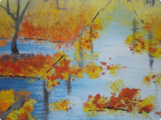 Мастер-класс, Урок рисования Рисование и живопись: Осенний парк. Гуашь Праздник осени. Фото 21