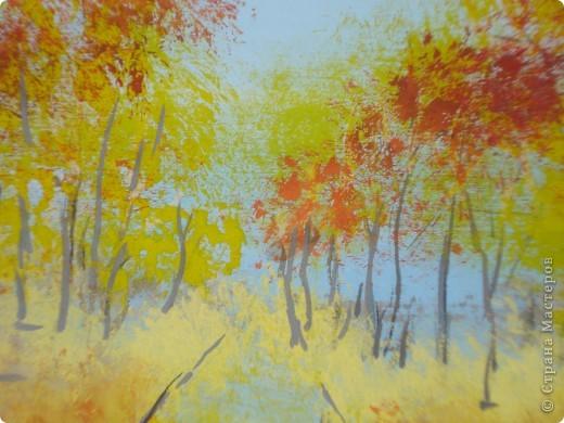 Мастер-класс, Урок рисования Рисование и живопись: Осенний парк. Гуашь Праздник осени. Фото 22
