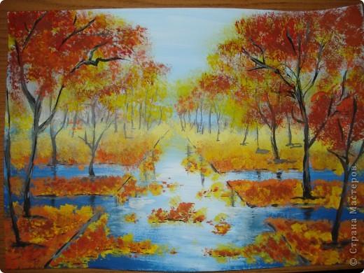 Мастер-класс, Урок рисования Рисование и живопись: Осенний парк. Гуашь Праздник осени. Фото 24