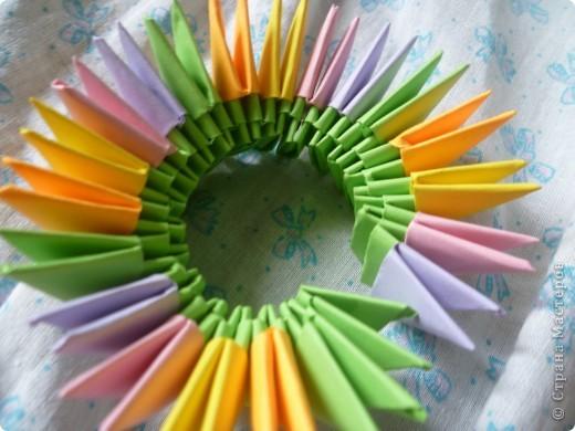 Мастер-класс Оригами модульное: ваза на день рождения Бумага День рождения. Фото 5