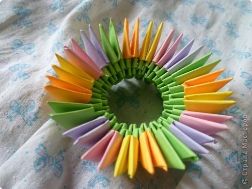 Мастер-класс Оригами модульное: ваза на день рождения Бумага День рождения. Фото 6