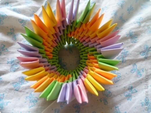 Мастер-класс Оригами модульное: ваза на день рождения Бумага День рождения. Фото 8