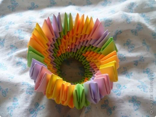 Мастер-класс Оригами модульное: ваза на день рождения Бумага День рождения. Фото 9